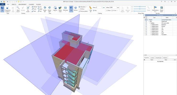 BIM Vision - freeware IFC model viewer