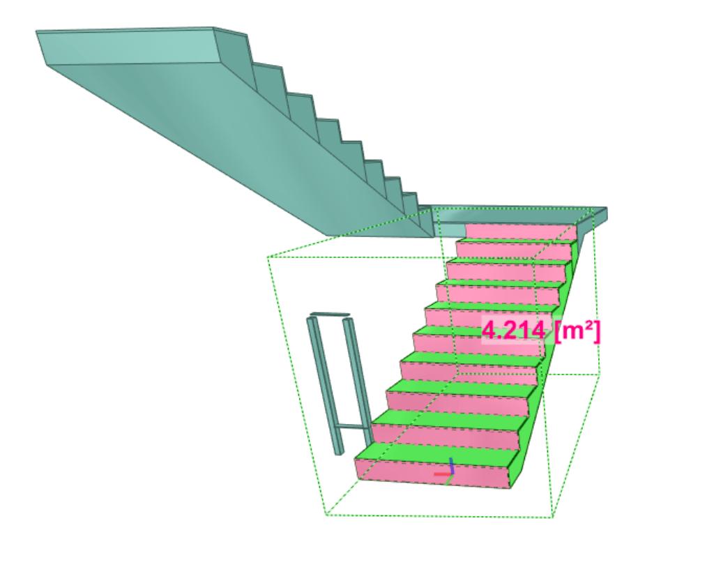 Analiza danych modelu na przykładzie wyliczania powierzchni stopnic