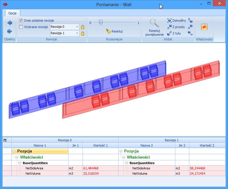 Analiza zmian – porównywanie elementów