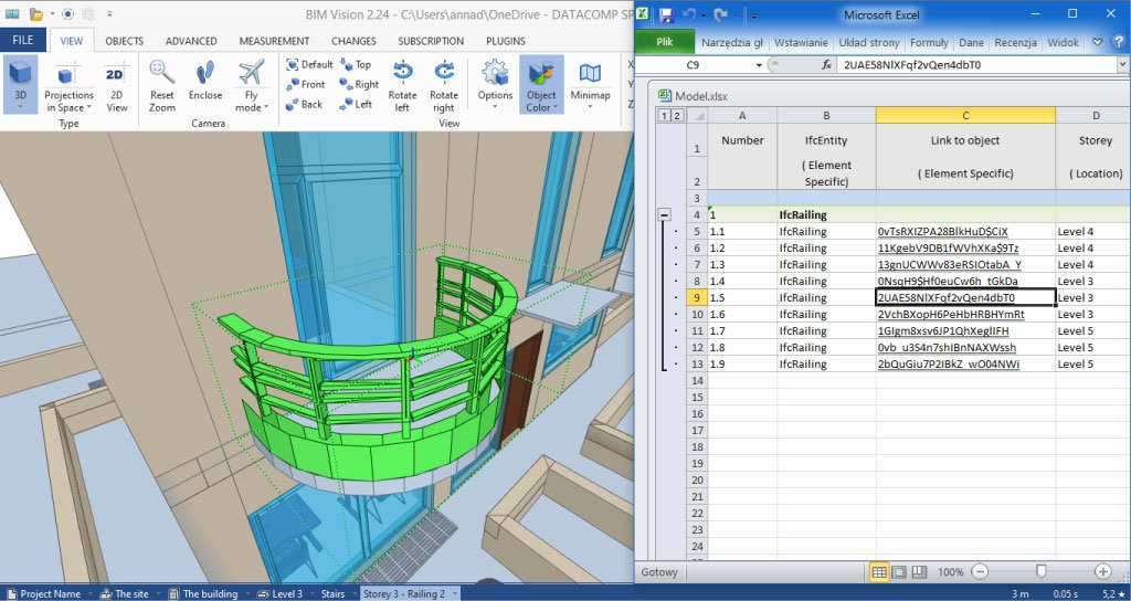 BIMvision 2-24 Advanced Reports