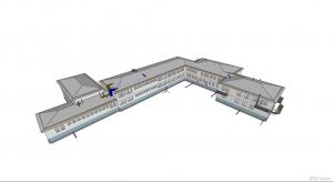 Integracja wielu modeli IFC w aplikacji BIMvision - model zbiorczy (wszystkie instalacje)
