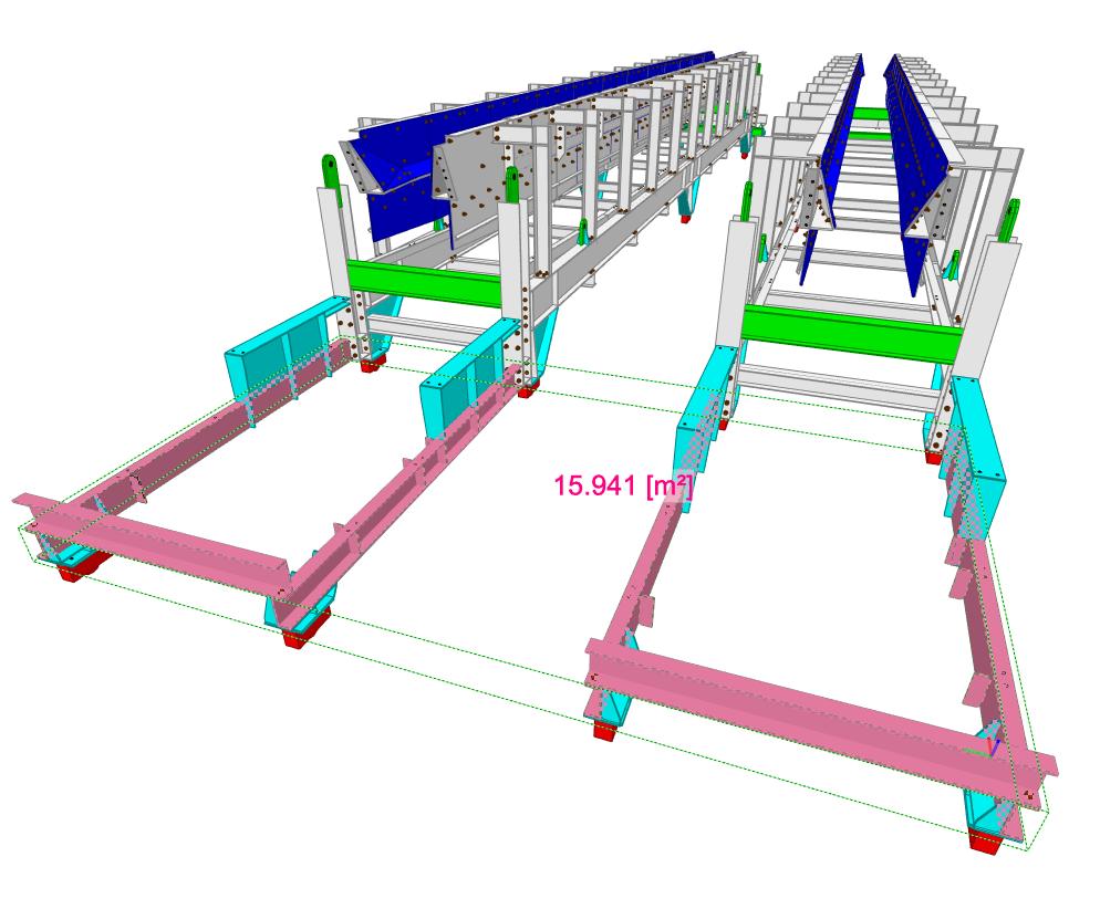 Zadanie 3: Wyznaczenie powierzchni konstrukcji stalowej do konserwacji