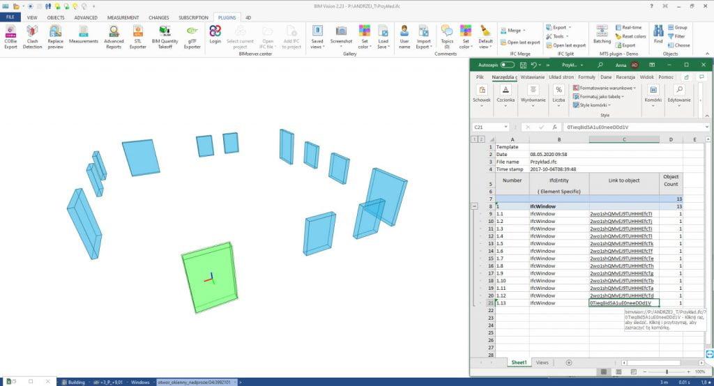 New version BIMvision 2.24 Advanced Reposrts plugin
